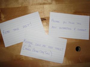 Reader Cue Cards