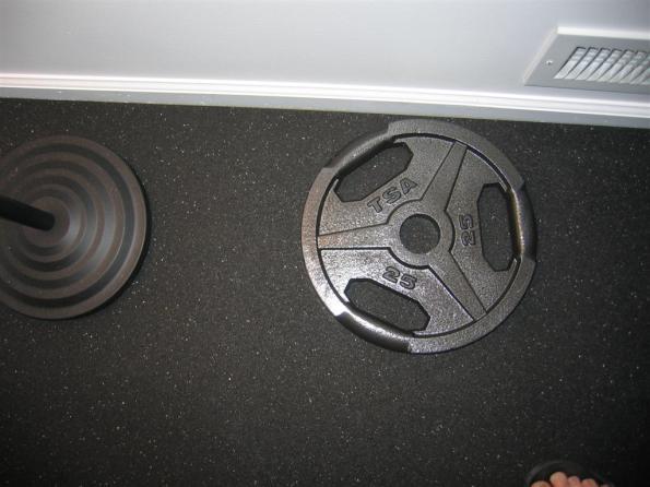 Semi-close up of mat